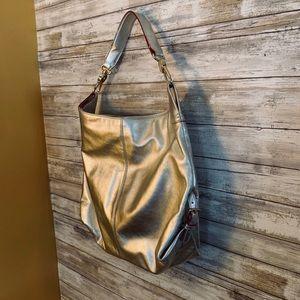 Dooney & Bourke rare metallic silver hobo bag